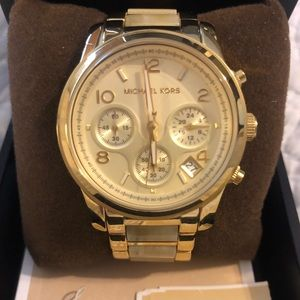 Michael Kors Women's Runway Chronograph Gold Watch